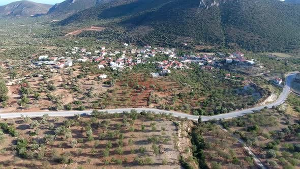 Thumbnail for Small Village Houses in Middle of The Almond Orchards
