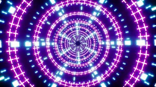 Rotating Zigzag Light Tunnel Loop Background 4K
