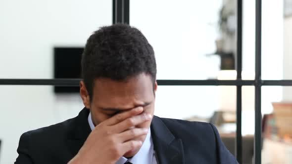Thumbnail for Tired Black Businessman at Work, Confused