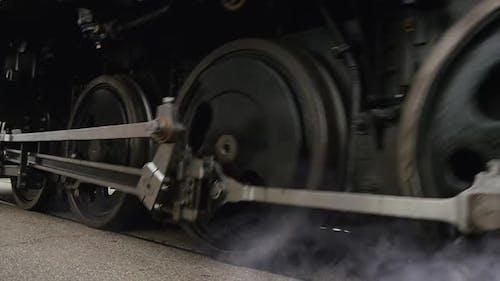Transportation Technology Revolution Scene of Industrial Steam Engine Train