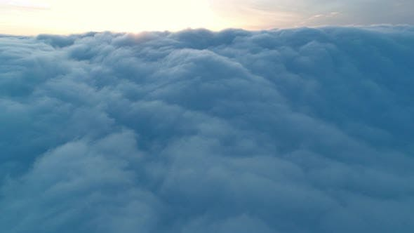 Thumbnail for Aerial View of Magical Blue Cumulus Clouds