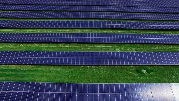 Thumbnail for Solar Cells on Energy Farm Drone View