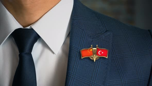 Thumbnail for Businessman Friend Flags Pin China Turkey