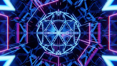 Abstract Sci-fi Futuristic Tunnel VJ Loop
