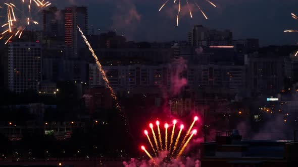 Cover Image for Beautiful Firework at Evening Sky