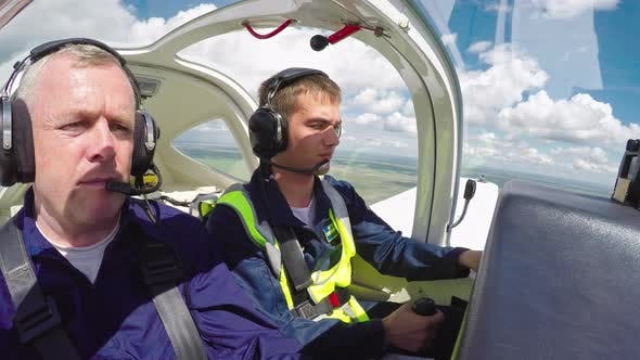 Cover Image for Student Pilot Confidently Flying Plane