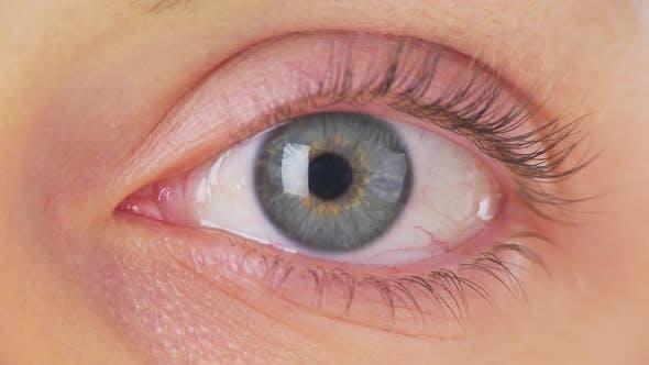 Nahaufnahme von Frauen Auge
