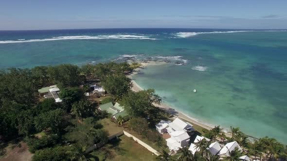 Thumbnail for Aerial View of Coast Line of Mauritius Island