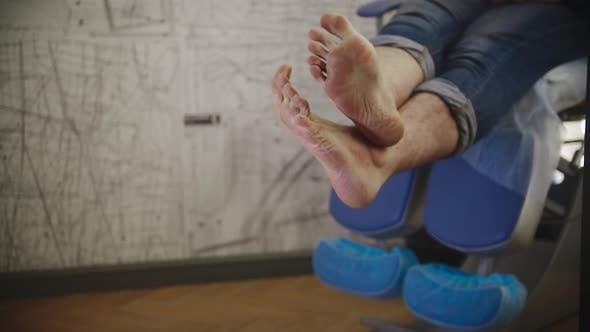 Thumbnail for Pedicure Procedure  Male Feet Before Procedures