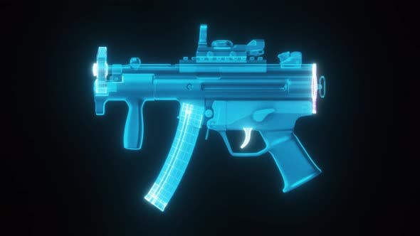 Mp5 K Tactical Sub Machinegun Hologram 4k