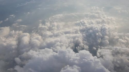 white cloud view from airplane