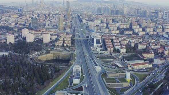 Thumbnail for Istanbul Yavuz Sultan Selim Bridge Entrance Aerial View