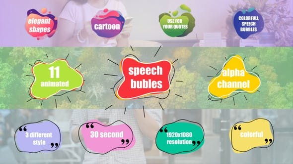 Colorful Speech Bubles