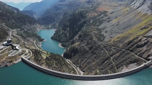 Thumbnail for Aerial View of Kolnbrein Dam in Carinthia, Austria.