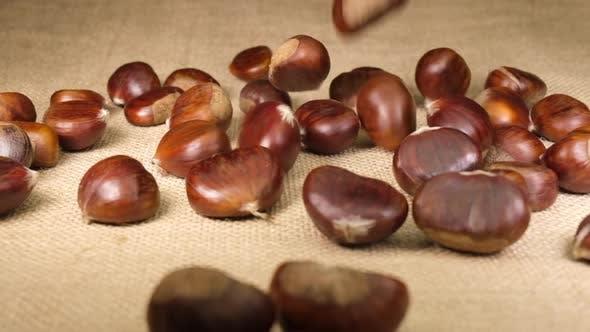 Chestnuts Autumn Food Fruit