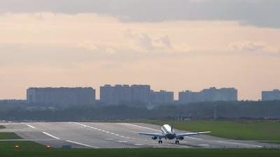 Slow Motion Landing Plane