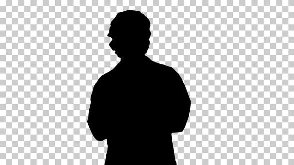Thumbnail for Silhouette Doctor woman medical professional explaining