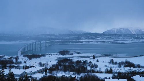 Tromso Winter Skyline