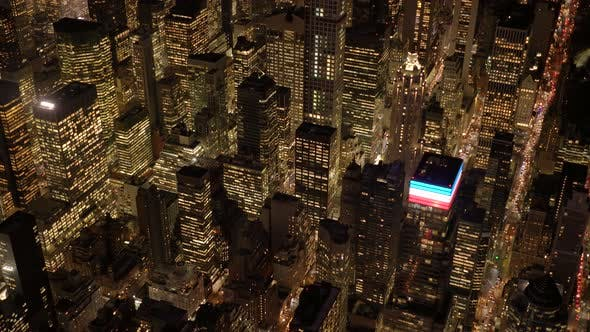 Thumbnail for Aerial View of New York City Skyline Cityscape of High Rise Skyscraper Buildings