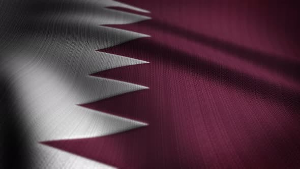 Thumbnail for Qatar Flag Seamless Loop