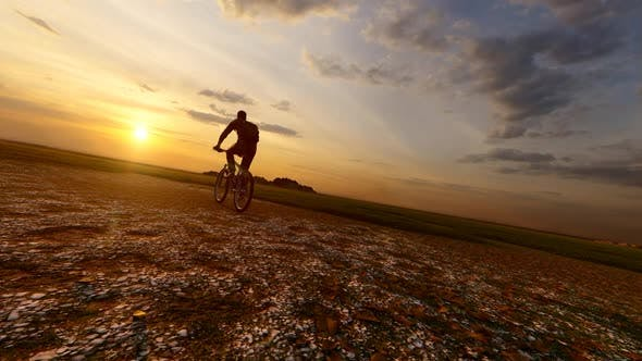 Thumbnail for Sunset with bicycle