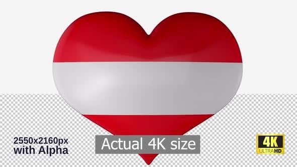 Thumbnail for Austria Flag Heart Spinning