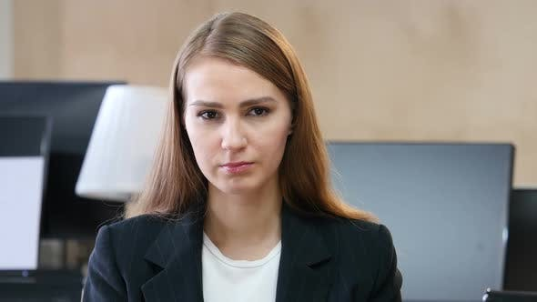Thumbnail for Portrait of Upset Sad Woman in Office