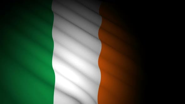 Thumbnail for Ireland Flag Blowing in Wind