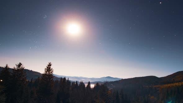 Rising Moon in the Rising Sky