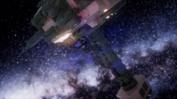 Thumbnail for Space Ship and Milky Way Stars