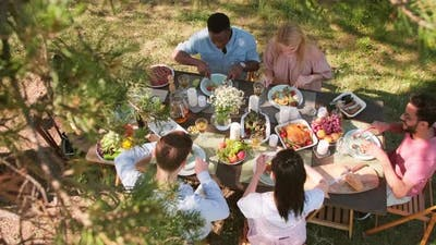 Group Of People Having Lunch
