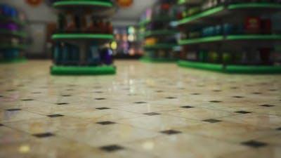 Covid19 Epidemic and Empty Supermarket