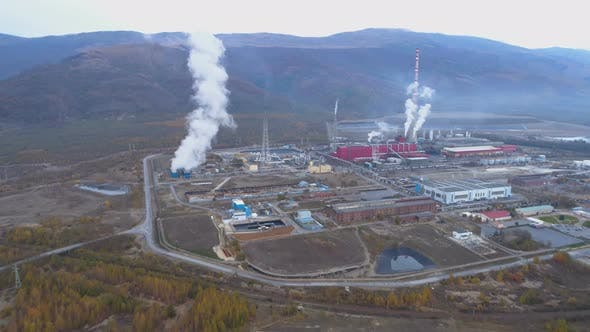 Thumbnail for Pollution Smoke Coming Out From Smokestack of Copper Smelter Refinery