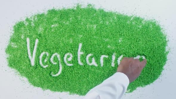 Green Hand Writing   Vegetarian