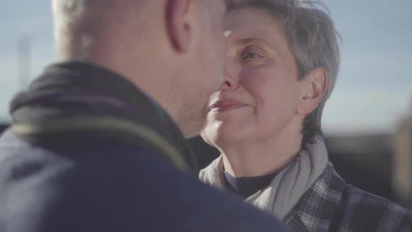 Thumbnail for Portrait of Senior Woman Face Close Near Face of Senior Man