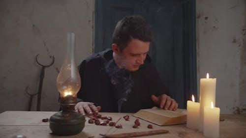 Wizard Fortune Telling Using Ceromancy Method
