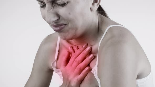 Thumbnail for Sore Throat. Woman with Pain Throat