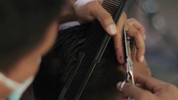 Thumbnail for Haircut With Scissors