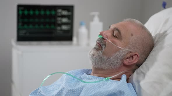 An Elderly Patient Wakes Up Coming Out of a Coma
