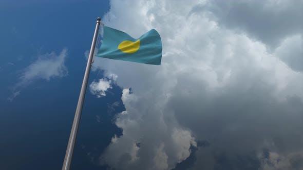 Palau Flag Waving 4K