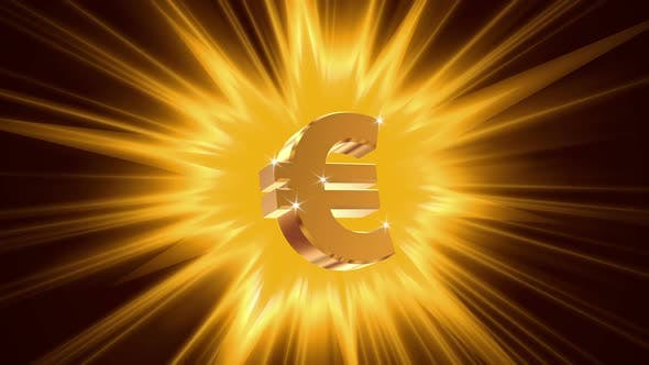 Thumbnail for Euro Sign on Radiant Light Background, Success, Large Income, Jackpot Winner