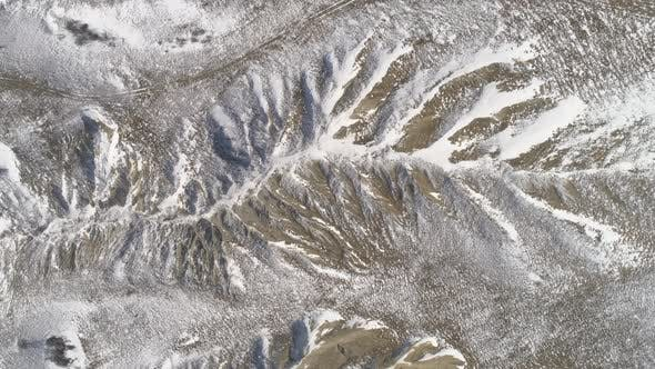 Thumbnail for Top View Of The Snowy Hill