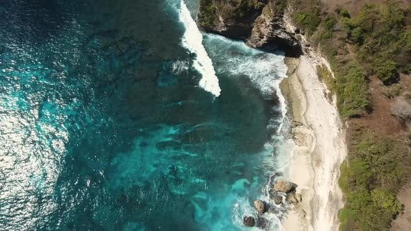 Thumbnail for Seascape Cliffs, Sea and Waves at Nusa Penida, Indonesia