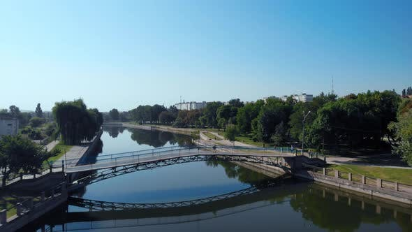 Thumbnail for Top View on Small City in East of Ukraine