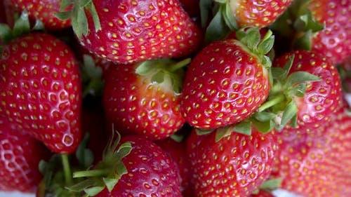 strawberries Close-Up,Rotating