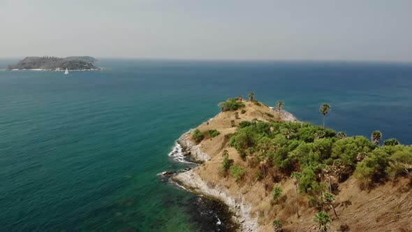 Thumbnail for Aerial View Of Promtep Cape Phuket In The Andaman Sea