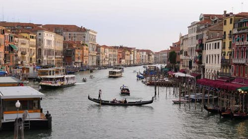 Panorama of the Grand Canal (Canal Grande), Venice, Italy, Europe
