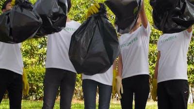 Volunteers with Bin Bags