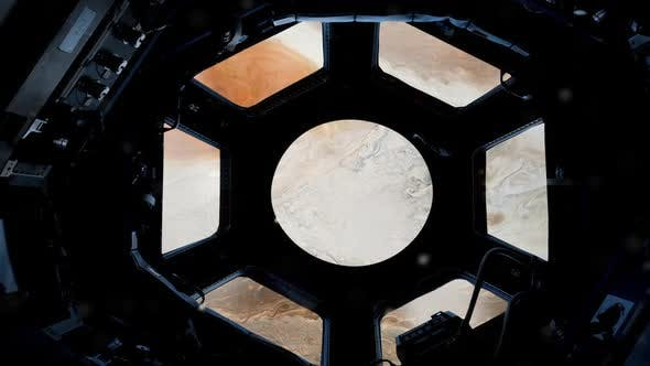 Thumbnail for Jupiter through the Porthole of the International Space Station.