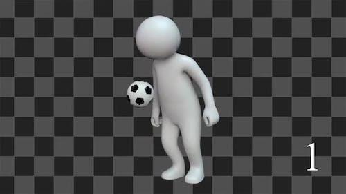 Stickman With Ball